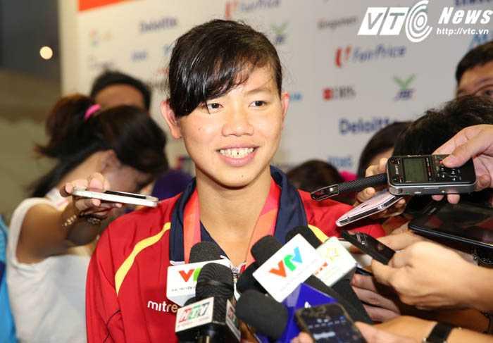 Ánh Viên giành huy chương vàng thứ 6 tại SEA Games (Ảnh: Phạm Thành)