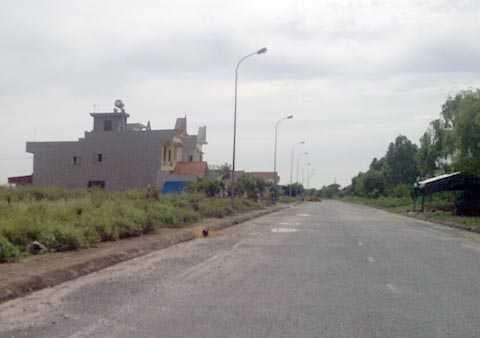 Khu vực nơi cán bộ Công an huyện Kinh Môn bị nhóm côn đồ truy sát