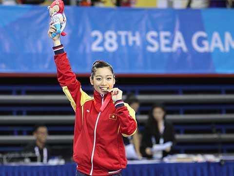 Hà Thanh đã giành 2 HCV ở SEA Games 28