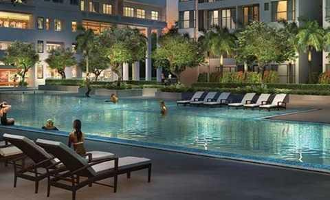 Dự án gồm tổ hợp khu căn hộ, trung tâm thương mại và dịch vụ (3.106,53 m2) đầy đủ tiện ích: sân tennis, hồ bơi, phòng tập gym. Khu giữ trẻ có diện tích 3.328,19 m2.