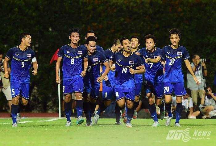U23 Thái Lan hoàn toàn vượt trội trong hiệp 1