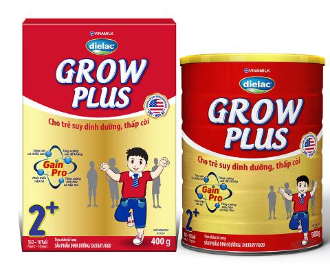 Dielac Grow Plus mang đến 4 lợi ích nổi trội cho trẻ suy dinh dưỡng thấp còi: Tăng cân và chiều cao; Tăng sức đề kháng; Phát triển não bộ; Tăng cường tiêu hóa hấp thu