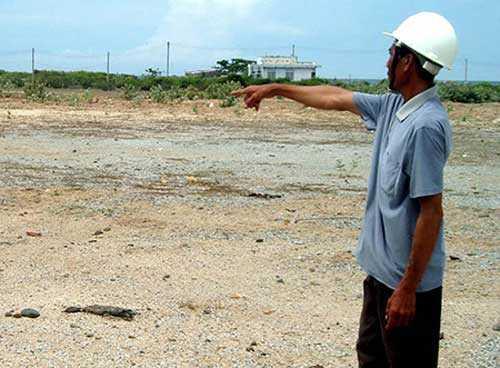 Khu liên hợp thép Cà Ná vẫn chỉ là bãi đất hoang