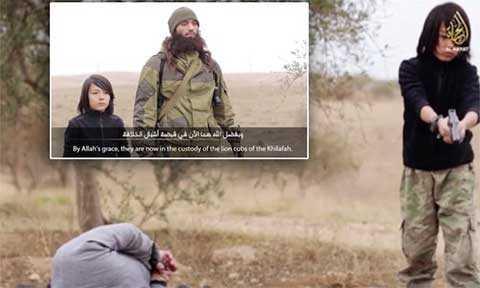 Các chiến binh nhí của IS cũng thể hiện sự