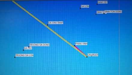 Vị trí tàu QNg 95429-TS bị chìm