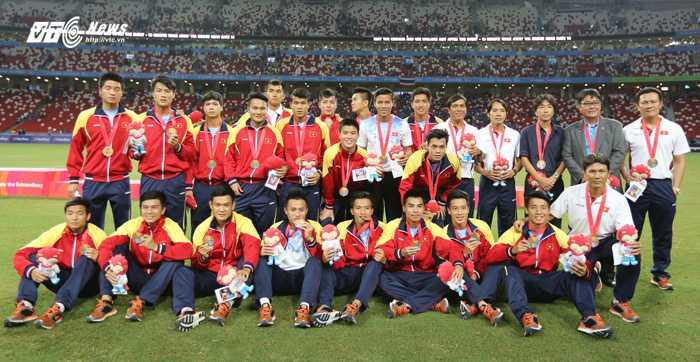U23 Việt Nam giành HCĐ SEA Games (Ảnh: VSI)
