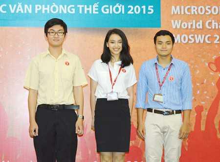 Ba quán quân cuộc thi Vô địch tin học văn phòng thế giới 2015 tại Việt Nam