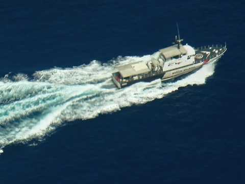 Tàu của Hải quân Malaysia tuần tra, tìm kiếm máy bay mất tích trên biển