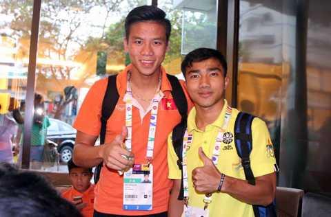 Chanathip và Quế Ngọc Hải ở SEA Games 28
