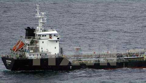 Hình ảnh tàu chở dầu MT Orkim Harmony do nhà chức trách Malaysia công bố trong cuộc họp báo ở Putrajaya ngày 18/6. (Nguồn: THX/TTXVN)