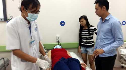 Bệnh nhân cấp cứu tại viện.