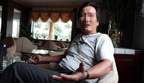 Ông Tiêu Văn Luận trong một lần ngồi trao đổi vớibáochí. Ảnh: Vietnamnet