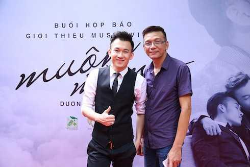 Dương Triệu Vũ và nhạc sỹ Thái Thịnh.