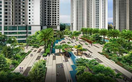 Với mật độ xây dựng chỉ 23,3% (trong tổng diện tích hơn 12 héc-ta), Goldmark City được đánh giá là dự án có quần thể kiến trúc xanh lớn nhất Hà Nội.