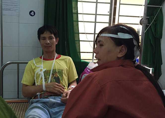 Anh Tống Quảng Trị kể lại vụ tai nạn kinh hoàng mà mình vừa thoát chết - Ảnh: Tấn Vũ