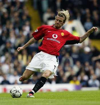 Một trong những hình ảnh không thể phai mờ của Beckham tại Premier League