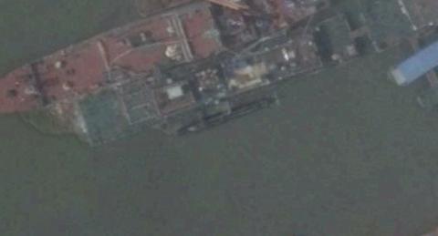 Hình ảnh vệ tinh của DigitalGlobe cho thấy Trung Quốc từng sản xuất tàu ngầm mini