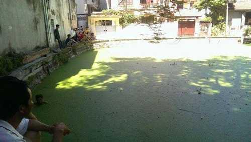 Hồ nước nơi phát hiện thi thể cô gái trẻ