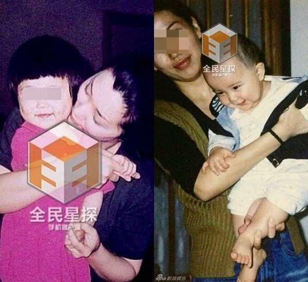 Bà Hầu và cô Tư cùng hai người con.