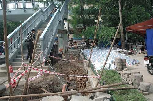 Vị trí đào mương thoát nước phát hiện gần 200 bộ hài cốt