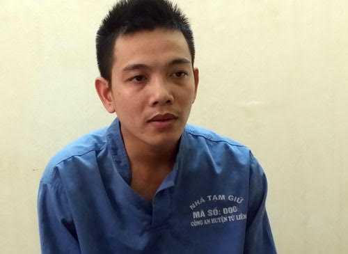 Trần Văn Hoan tại cơ quan công an