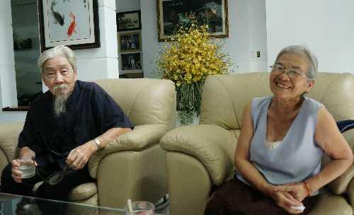Nhạc sĩ Phan Nhân và vợ