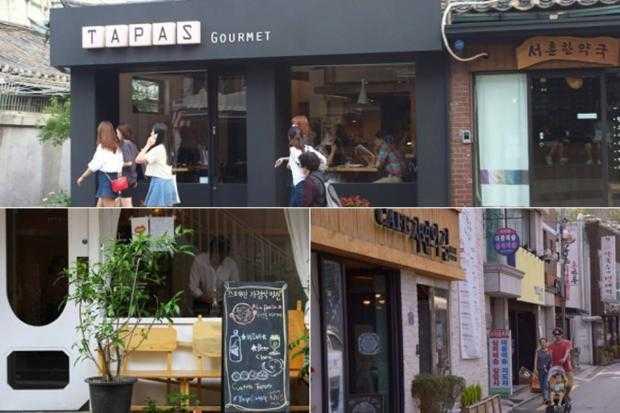 Những quán cà phê xinh đẹp ở Seochon, Seoul.