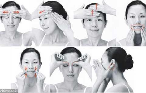 Ở Nhật Bản có nhiều bài mát xa da mặt rất hay và hiệu quả.