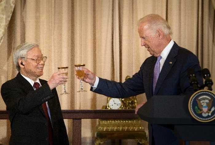 Tổng Bí thư Nguyễn Phú Trọng dự tiệc chiêu đãi của Phó Tổng thống Joe Biden