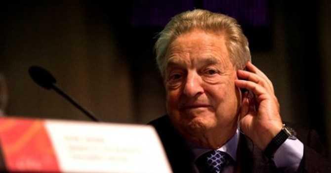 Nhà tài chính kiêm đầu cơ tiền tệ nổi tiếng George Soros. Ảnh AP