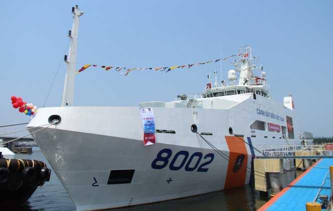 Tàu cảnh sát biển 8002 - Ảnh: P. Thành
