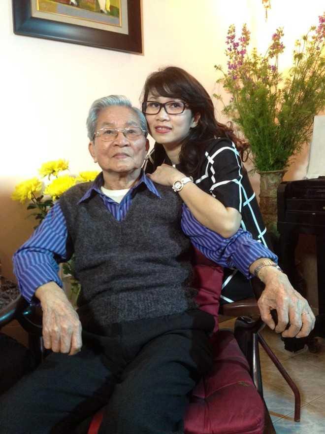NSND Đình Quang và con gái - MC, BTV Mỹ Linh.