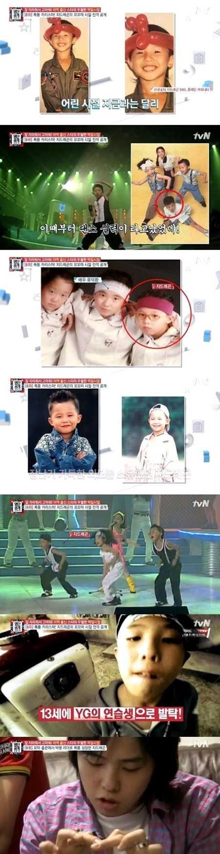 Những hình ảnh hồi bé khi G-Dragon còn là thực tập cho công ty giải trí YG Entertainment
