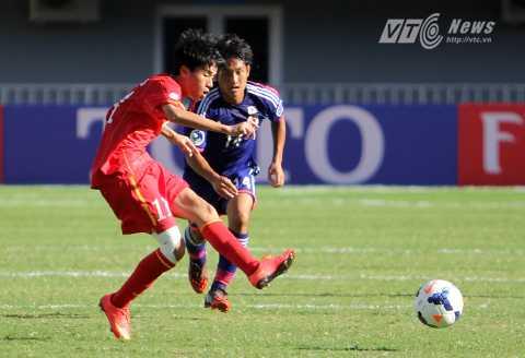 Thanh Hậu không lên tuyển U19 đợt này vì bận thi đấu cho HAGL (Ảnh: Hà Thành)