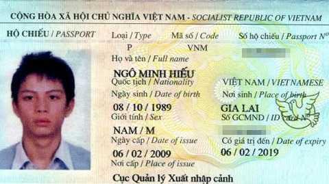 Ảnh hộ chiếu của Ngô Minh Hiếu