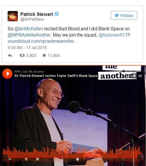 'Giáo sư X' đăng tải đoạn twitter 'ngỏ lời' gia nhập ban nhạc của Taylor Swift.
