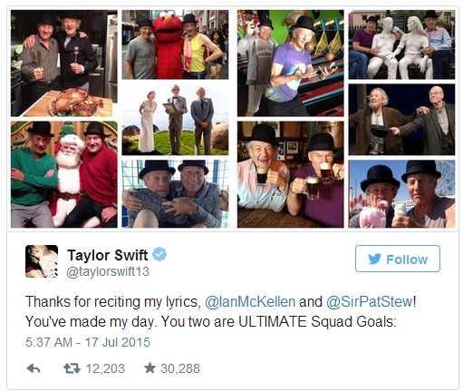 Taylor Swift bày tỏ sự trân trọng với cặp sao 'X-men'
