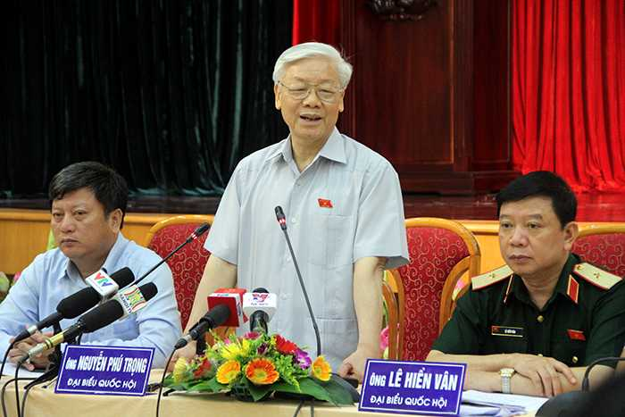 Tổng bí thư Nguyễn Phú Trọng kể về những ấn tượng tốt đẹp trong chuyến thăm Mỹ mang tính lịch sử vừa qua (Ảnh: Phạm Thịnh)