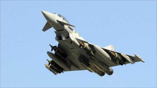 Chiến cơ Eurofighter Typhoon của Không quân Hoàng gia Anh