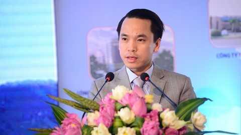 Ông Nguyễn Thanh Bình – Tổng giám đốc Công ty cổ phần liên doanh đầu tư quốc tế KLF phát biểu tại buổi lễ