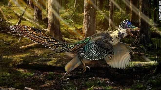 Hình ảnh phục dựng của loài khủng long Zhenyuanlong. (Nguồn: CCTV)