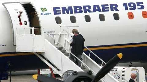 Máy bay Embraer 195 của hãng hàng không Lufthansa
