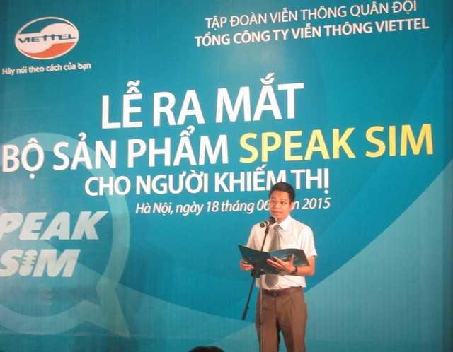 Lễ ra mắt bộ sản phẩm Speak Sim dành cho người khiếm thị