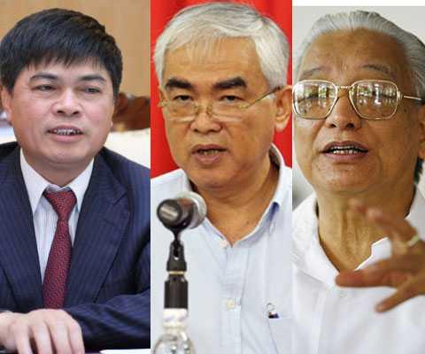 Ông Nguyễn Xuân Sơn, ông Lê Hùng Dũng và ông Cao Sỹ Kiêm