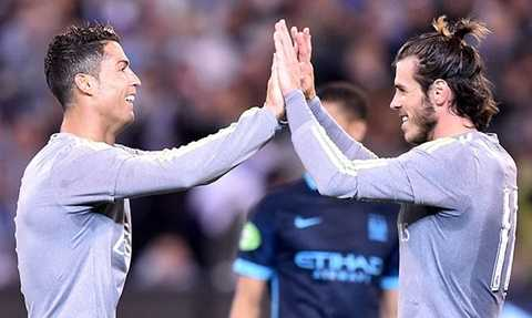 Niềm vui của Ronaldo và Bale