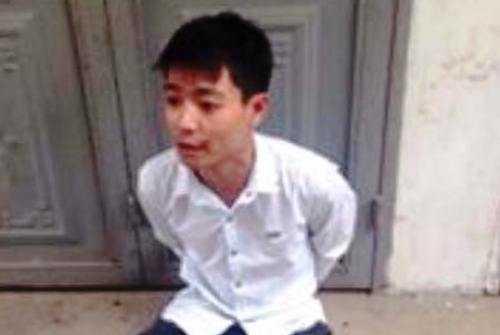 Nguyễn Minh Thế tại cơ quan công an