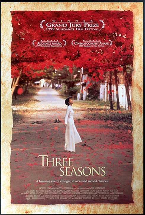 Poster phim 'Ba mùa' – bộ phim do đạo diễn gốc Việt thực hiện với bối cảnh chính tại Việt Nam thắng lớn trong Liên hoan phim Sundance 1999.