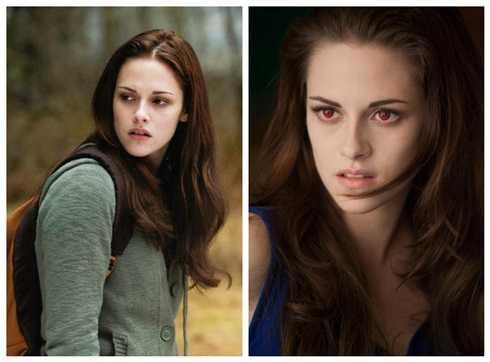 Kristen 'hút' fan trong series Twilight.