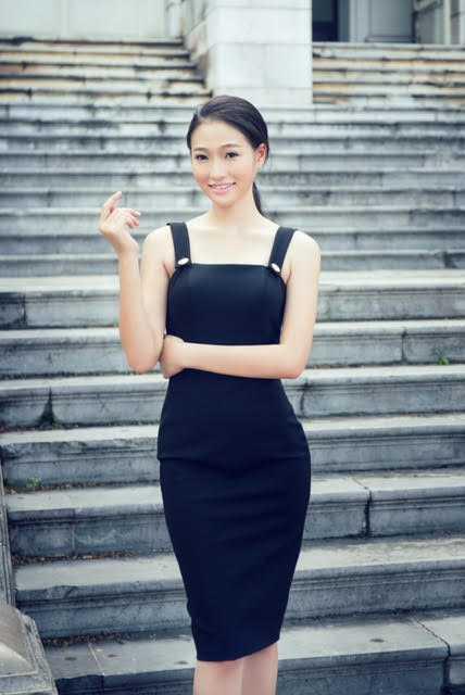 Mai Nguyệt Minh - cô gái sinh năm 1995 lần đâu tiên tham gia cuộc thi sắc đẹp.
