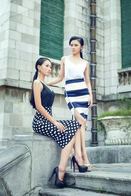 Nguyệt Minh và Thái An sở hữu gương mặt xinh xắn và vóc dáng cực chuẩn.